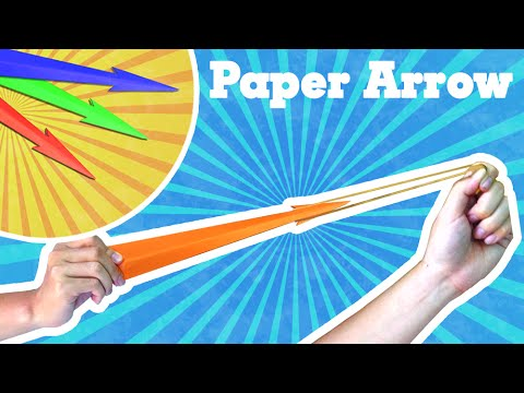 Kids Origami easy - How to make paper rocket (paper arrow that shoots)
