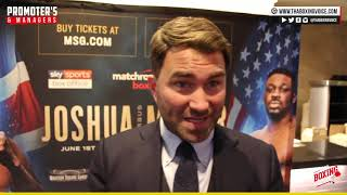 🚨Eddie Hearn Questions & Answers Patreon Only😱On Joshua, Wilder, Whyte Punches Harder Than Miller