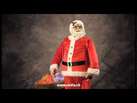 Père noël karaoké, Karaoke-Weihnachtsmann 150cm www.vedia.ch