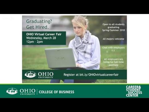 OHIO Virtual Career Fair Prep Workshop