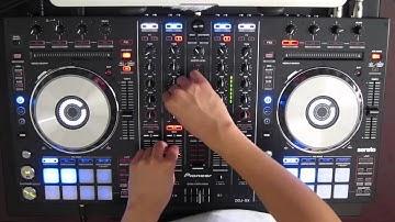 DJ Ravine's Christmas Mix 2012 on a Pioneer DDJ-SX (Electro Hardstyle Dubstep Hardcore)
