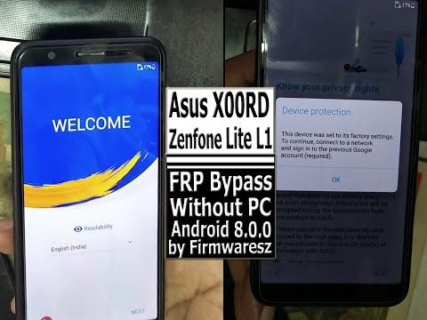 Asus X00RD (Zenfone Lite L1) (Android 8.0.0) FRP Bypass Without PC by Firmwaresz