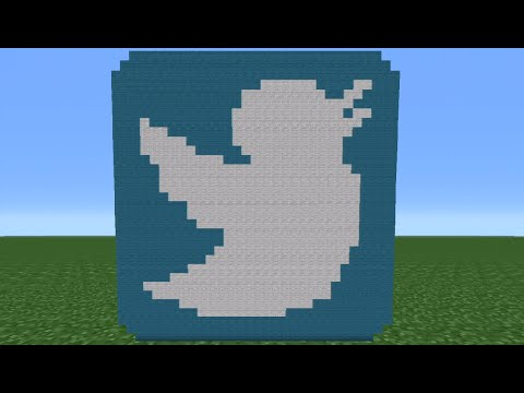 Minecraft Tutorial: How To Make The Twitter Logo