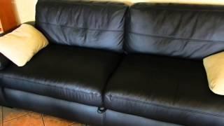 Izvelkamais ādas dīvāns Exellent раскладной кожаный диван(Exellent - dīvāns no naturālas ādas, izvelkamais mehānisms. Šo populāru modeli iespējams apskatīt un izmēģināt mēbeļu salonā Rīgā., 2013-05-24T08:18:02.000Z)