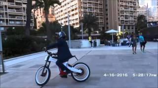 Тест мощнейшего мотор колеса Дуюнова из России на выставке в Монако | 17 апреля(Видео с выставки в Монако, которая проходила 14-17 апреля 2016 года. Все желающие могли увидеть электровелосипе..., 2016-04-18T18:29:34.000Z)