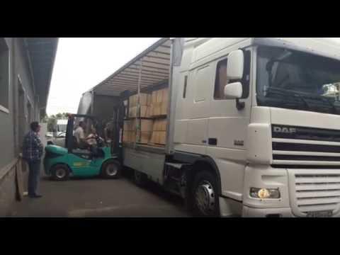 Погрузка на складе. Компания Goodway logistics Алматы
