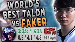 BEST TALON WORLD vs. FAKER AKALI | 5 Solokills on Faker!