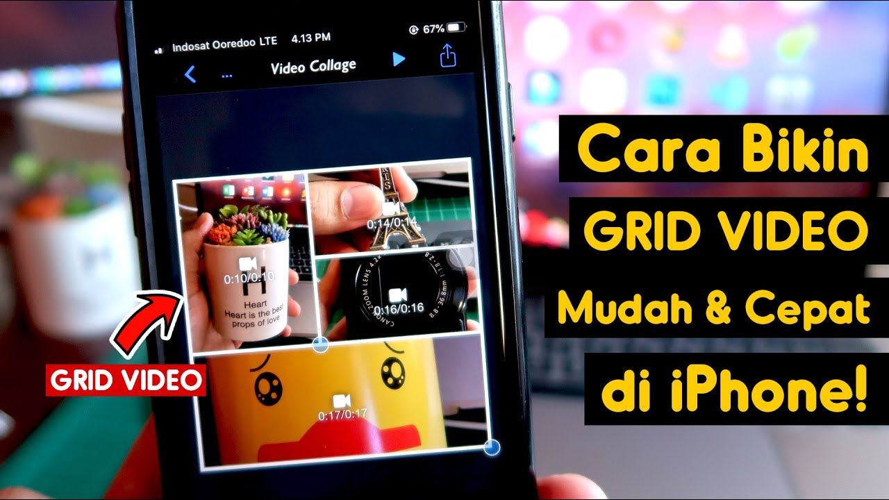 Cara Membuat Grid Video Cepat Di Iphone Youtube