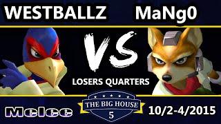 The Big House 5 - Mango (Fox) Vs. Westballz (Falco) - Losers Quarters - SSBM