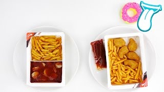Pommes selber machen OHNE fritteuse | CURRYWURST und CHICKEN NUGGETS | MIKROWELLE | IN ALLER MUNDE