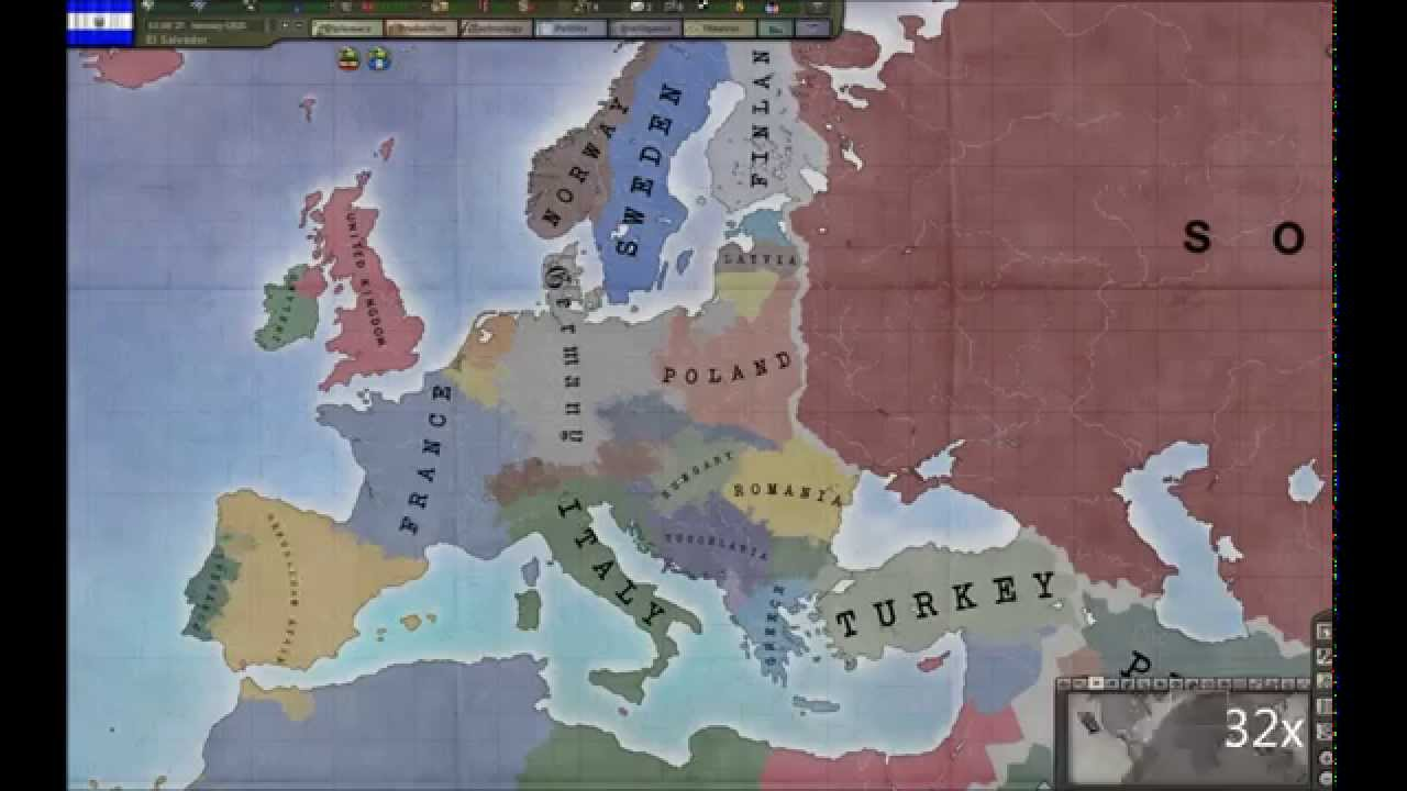 The European Free For All: A Hearts of Iron III Custom Timelapse