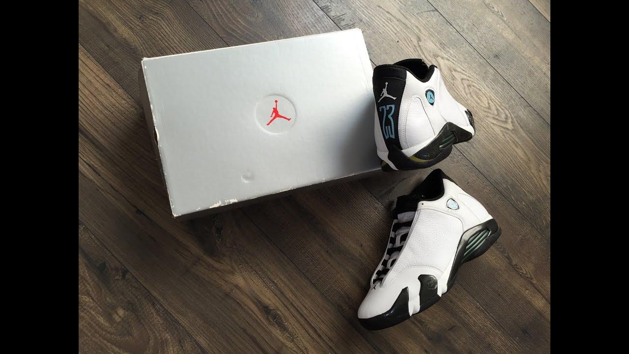 19fcccb30467 The OG Air Jordan 14 XIV Oxidized Green - YouTube