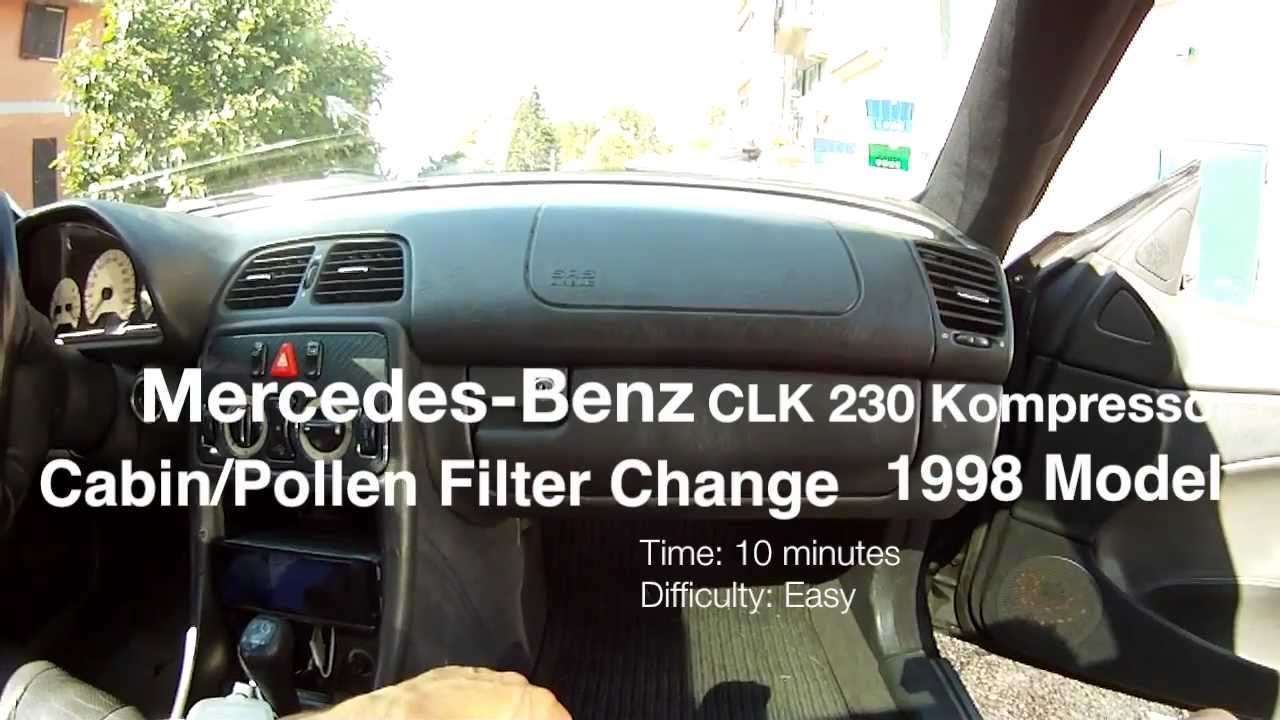 mercedes benz clk 230 kompressor cabin filter replacement. Black Bedroom Furniture Sets. Home Design Ideas