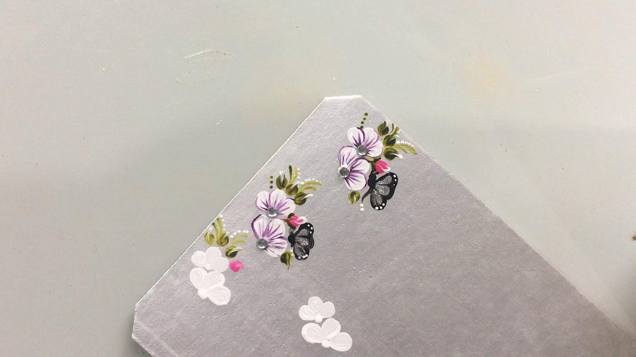 Adesivos Para Unhas Feito Com Caixas De Leite Passo A Passo Flor