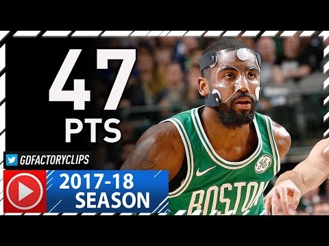 Masked Kyrie Irving AMAZING Full Highlights vs Mavericks (2017.11.20) - 47 Pts, MVP Chants!