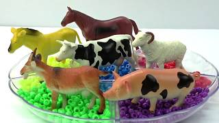 Learn Colors With Farm Animals Name & Sounds