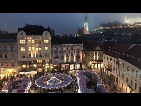 Bratislava Christmas markets 2017 (iPhone 8 plus camera test with Zhiyun smooth Q, 4K)
