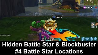 Fortnite Season 4 Week 4 Challenges - Hidden Battle Star & Blockbuster #4 Battle Star Locations
