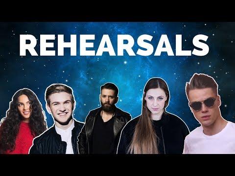 Eurovision 2018 Rehearsals - Azerbaijan, Iceland, Albania, Belgium & Czech Republic (Press Center)