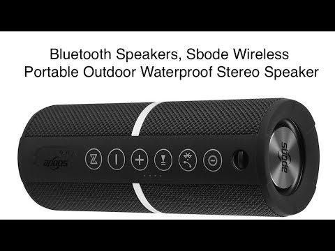 Sbode Wireless Portable Outdoor Waterproof Stereo Speaker FM Radio