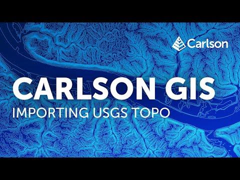Carlson GIS | USGS Topo Import