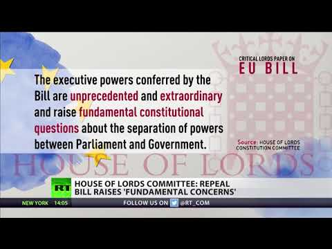 "Lords attack Brexit Bill over ""fundamental concerns"""