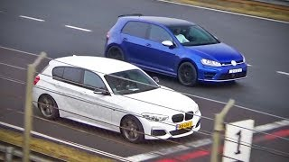 BMW M135i -vs- VW Golf 7R -vs- Audi S3 (&more)