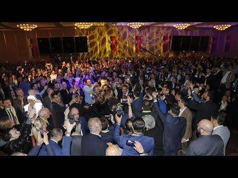 Ali Koç'un sahneye geliş anındaki coşkulu tanıtımı | 19 Mart Büyük Buluşma