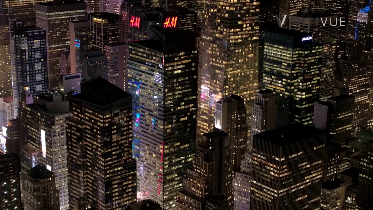 New York At Night using DJI X5R Gimbal inside Skybox Helicopter Camera Enclosure