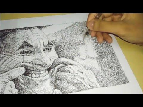 Drawing Joker (Joaquin Phoenix) timelapse