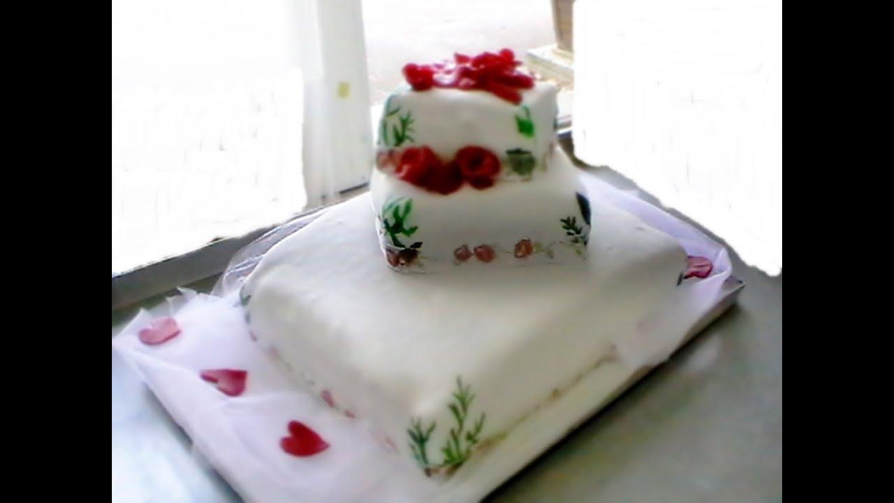 Hochzeitstorte 3 Stockige Hochzeitstorte Wedding Cake Youtube