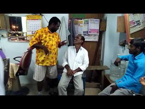 bithiri sathi in barbur shop