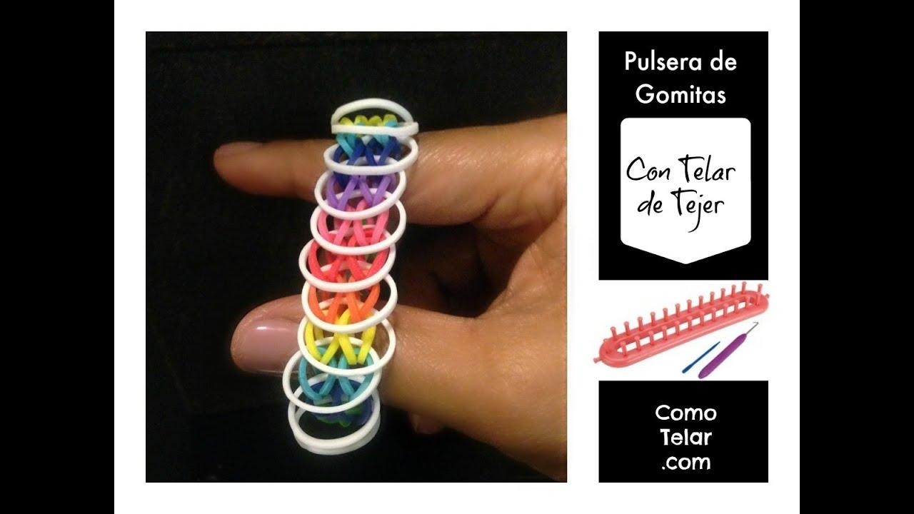 a64002efe2c2 RainbowLoom en ESPAñOL Pulsera de Gomitas sin Telar Rainbow loom Telar