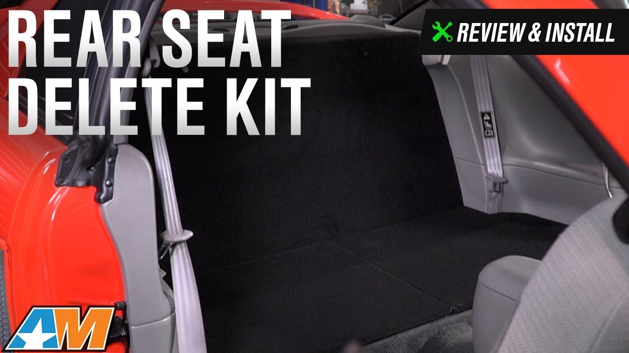 03 mustang convertible rear seat removal