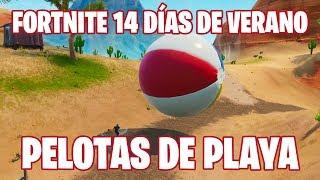 Fortnite Battle Royale ? 14 days of summer Throw giant beach balls