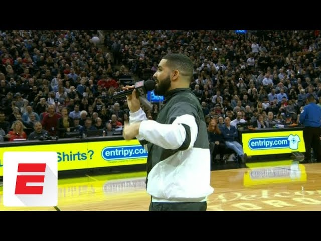 Drake declares Rockets' winning streak over in the middle of the game | ESPN