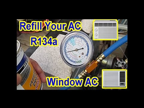 DIY - $5 AC Window Air Conditioner Refill with R134A - All Steps Video 1-5  Merged