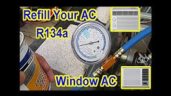 DIY - $5 AC Window Air Conditioner Refill with R134A - All Steps Video Merged.