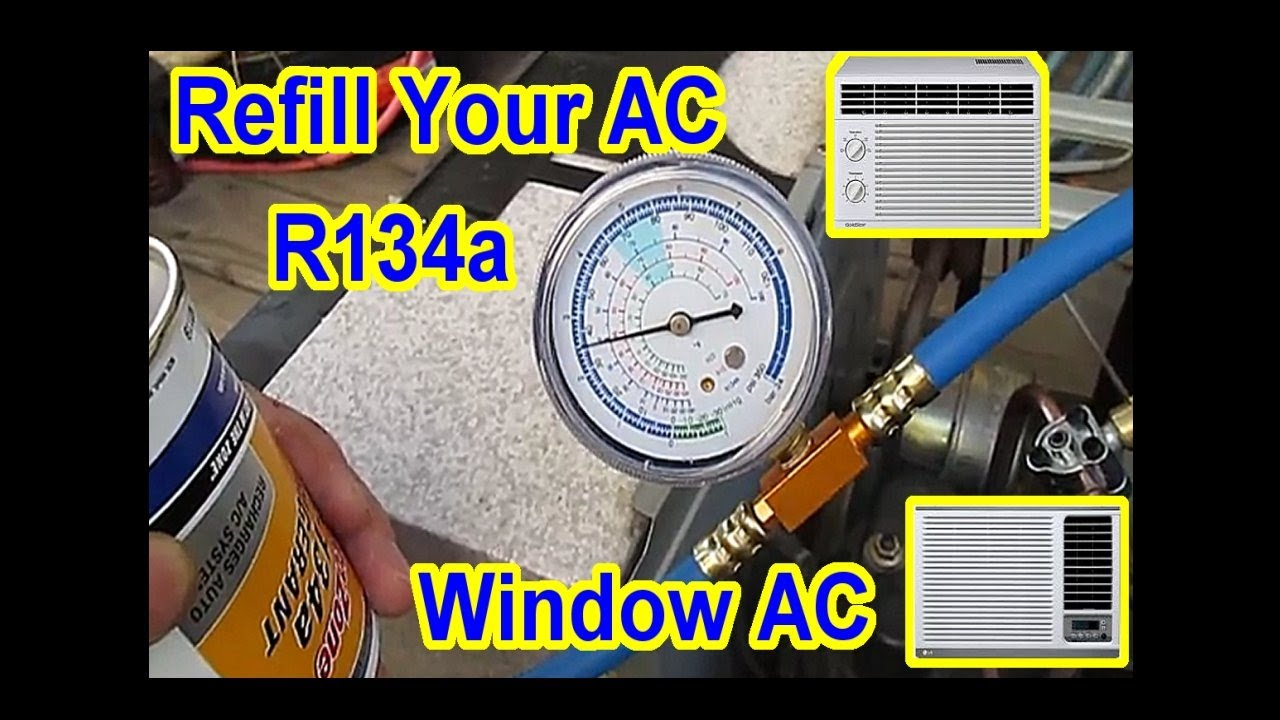 DIY - $5 AC Window Air Conditioner Refill with R134A - All Steps Video  Merged