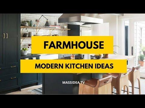 65+ Beautiful Modern Farmhouse Kitchen Ideas