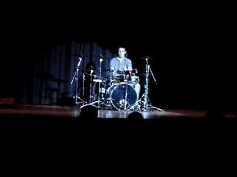 Pat Urbanek doing a drum solo