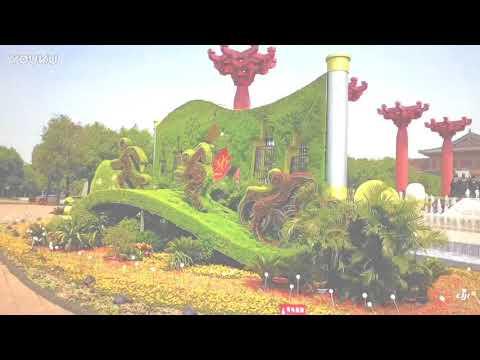 Aerial Xi'an (→_→)西安市中心文化区(陕西省China Shaanxi Province)