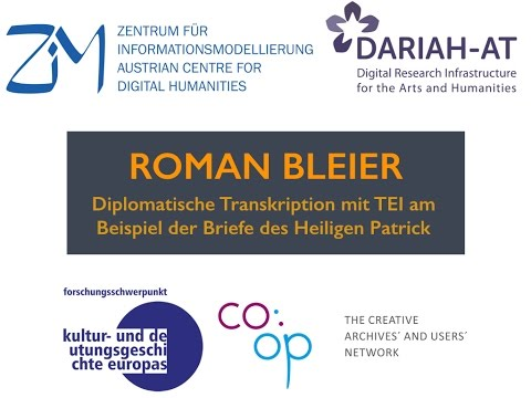 Lunchtime Lecture - Roman Bleier - Edition mit TEI