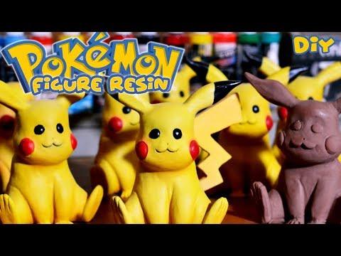 Making Pokemon Figure | Pikachu with Resin & Clay - how to make pokemon craft / DIY / lookfishart