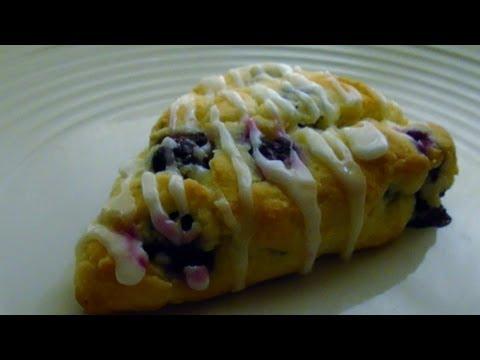 Gluten Free Blueberry Scones with Lemon Glaze