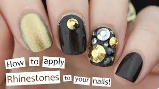 How to Apply Rhinestones to Your Nails!