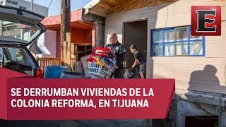Familias pierden sus casas por derrumbes en Tijuana