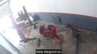 Dvojstĺpový zdvihák | oprava bežca