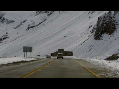 Video: el corredor internacional bajo la nieve