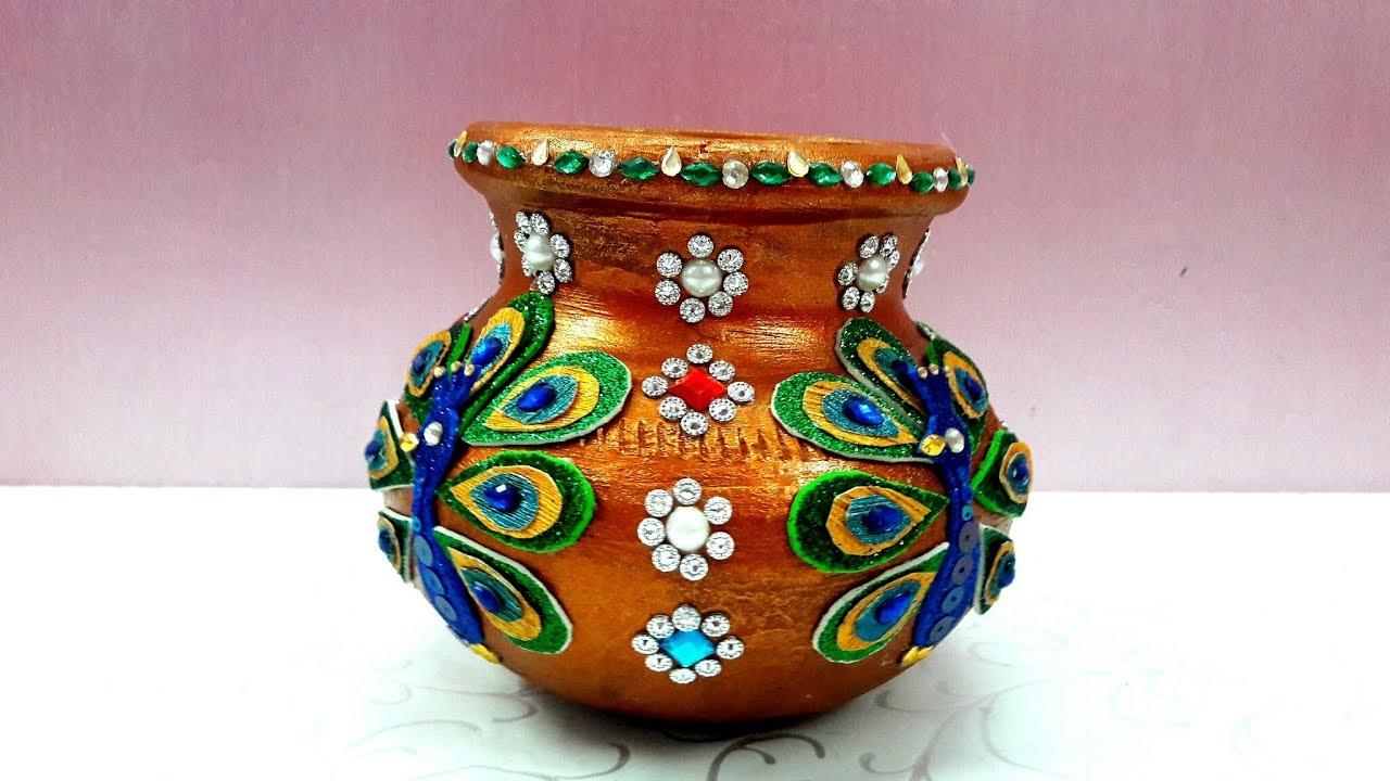 kalash decoration pot decoration for navratri school competition rh youtube com pot decoration pot decoration designs